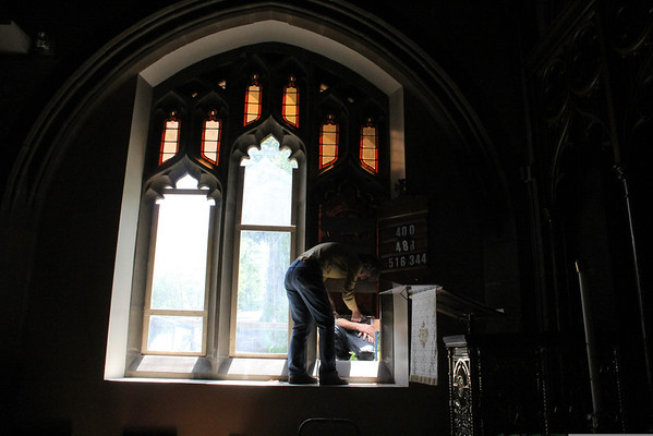 St. James Church, Stain Glass Replacement