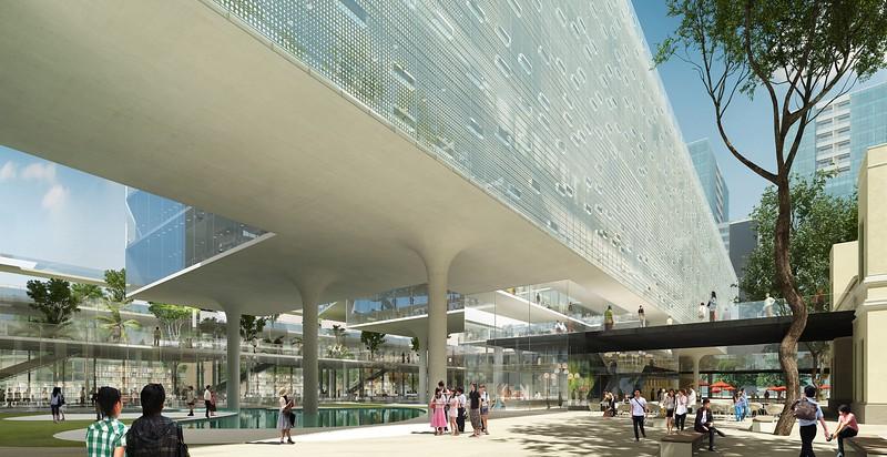 HCMC City Hall rear extension