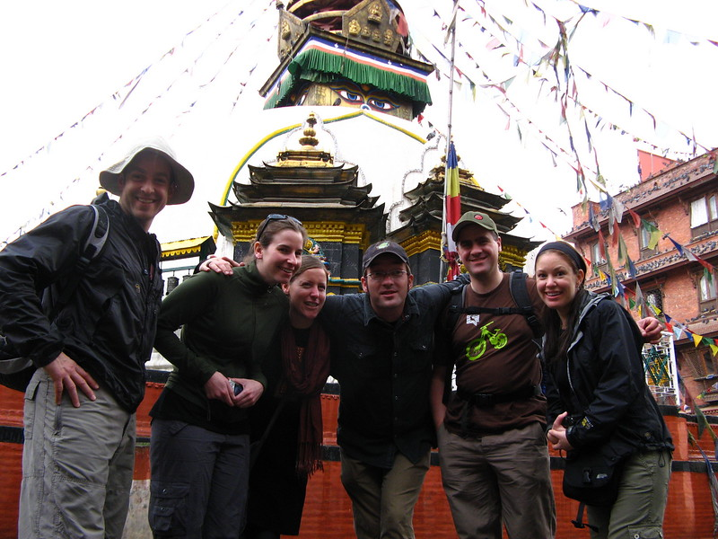 Travelers enjoying inner-Kathmandu