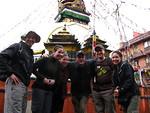 Travelers enjoying inner-Kathmandu