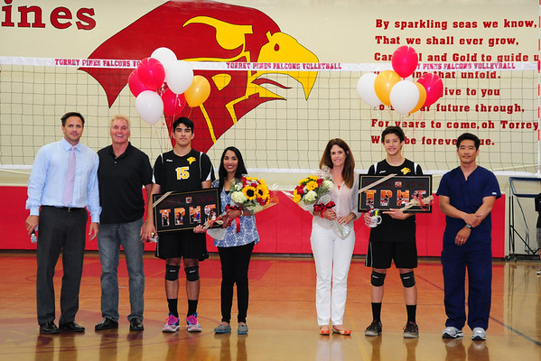 TP Volleyball Senior Night, 5-8-14