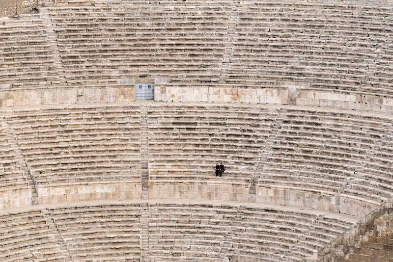 Römisches Theater in Amman; Blick von der Zitadelle