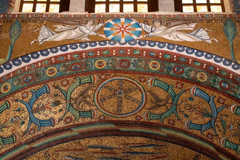 Details inside the Basilica of San Vitale