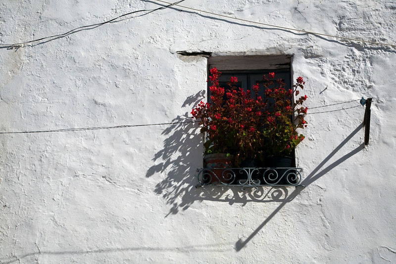 Typical architecture, town of Casta–o del Robledo, province of Huelva, Andalusia, Spain