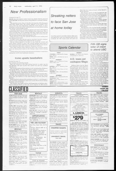 Daily Trojan, Vol. 65, No. 110, April 11, 1973