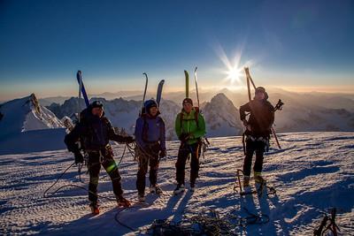 Cosmique 2 Mont Blanc - April 2013