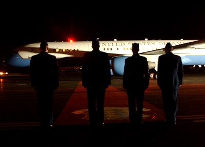 Vice President Dick Cheney arrives at Ellsworth AFB