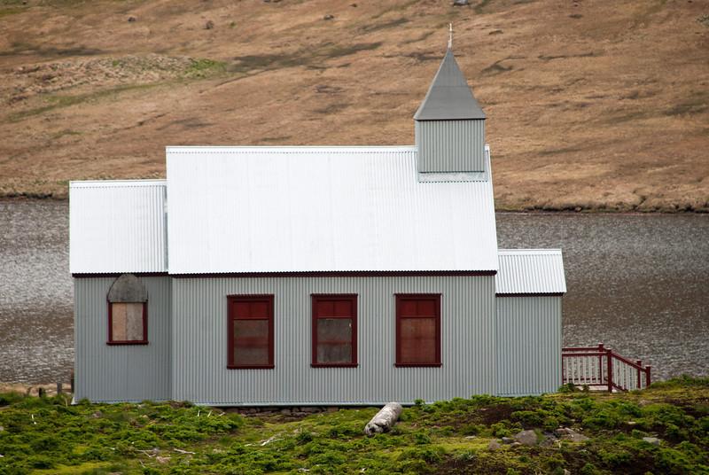 Aðalvík - Staður. Staðarkirkja. 2011. Staðarkirkja í Aðalvík