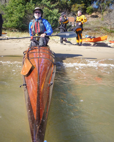 Lee, with his beautifully crafted Redfish® Spring Run kayak.  Beautiful.