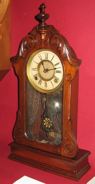 Ansonia Early Walnut Parlor Clock with Gilbert Movement
