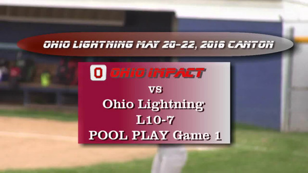 Ohio Lightning Tourney May 20-22, 2016