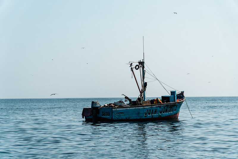 Abandoned Fishing Boat Off the Coast of Peru