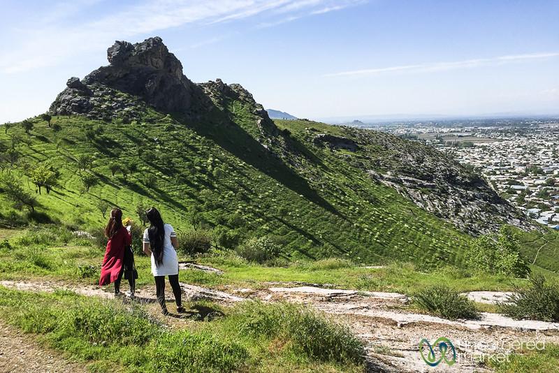 Suleimann-Too Mountain with Osh Below - Kyrgyzstan