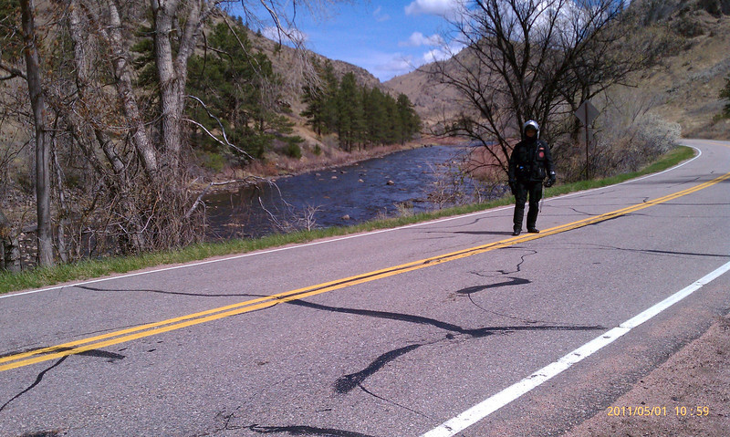 Here's Dom by the Cache La Poudre River