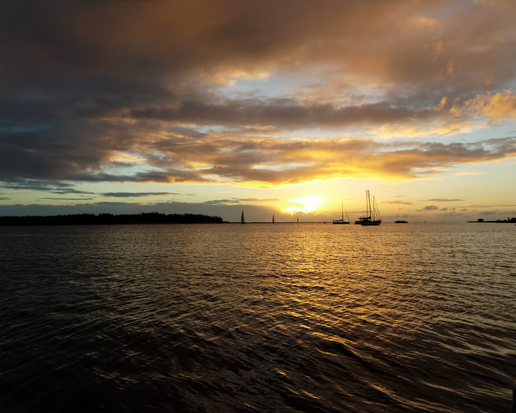 Golden nimbostratus cloudy Sunrise Seascape. Australia