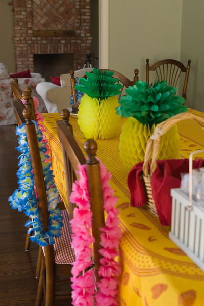 The pineapple decorations come inside after refusing to stay where Valerie originally placed them