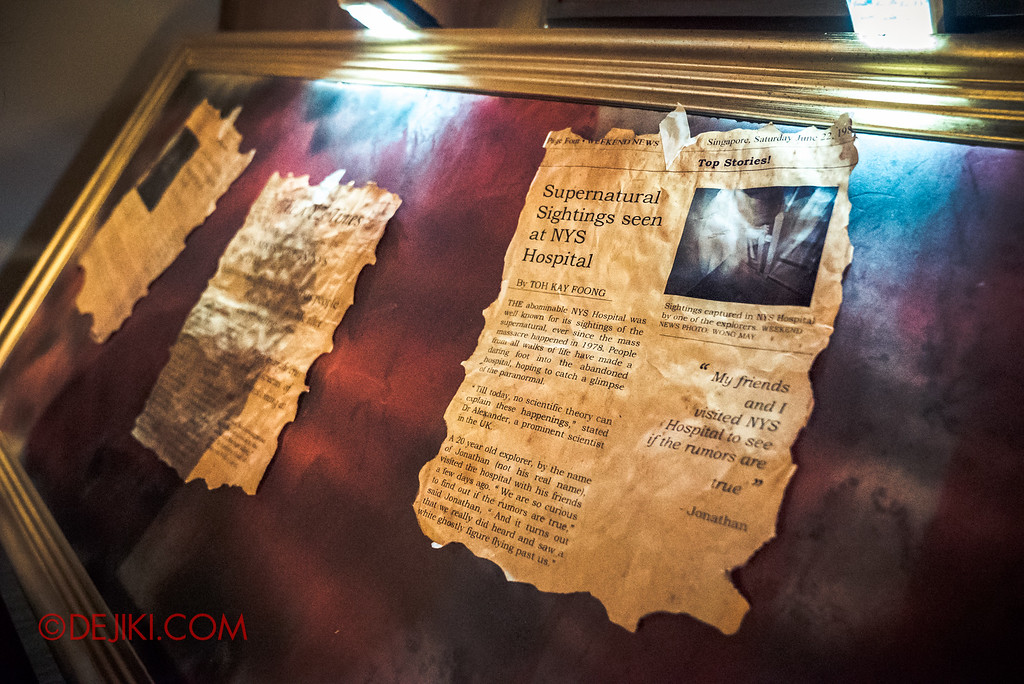 Halloween Horror Nights 6 - RIP Tour review / VIP Reception Haunted Hospital 2016 decor story