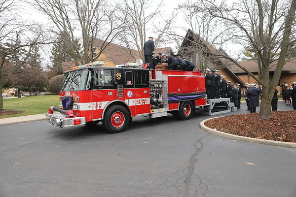 Downers Grove Fire Department ( Retired ) Lt John  D. Schultz Funeral Also A Member Of The Geneva Fire Department Rest In Peace Lt .