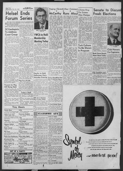 Daily Trojan, Vol. 44, No. 33, October 29, 1952