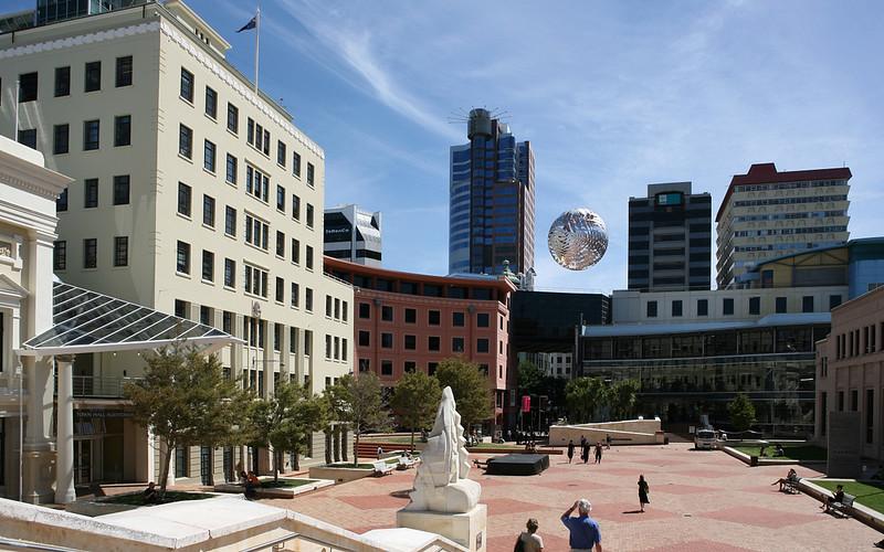 Fliegender Ball in Wellington