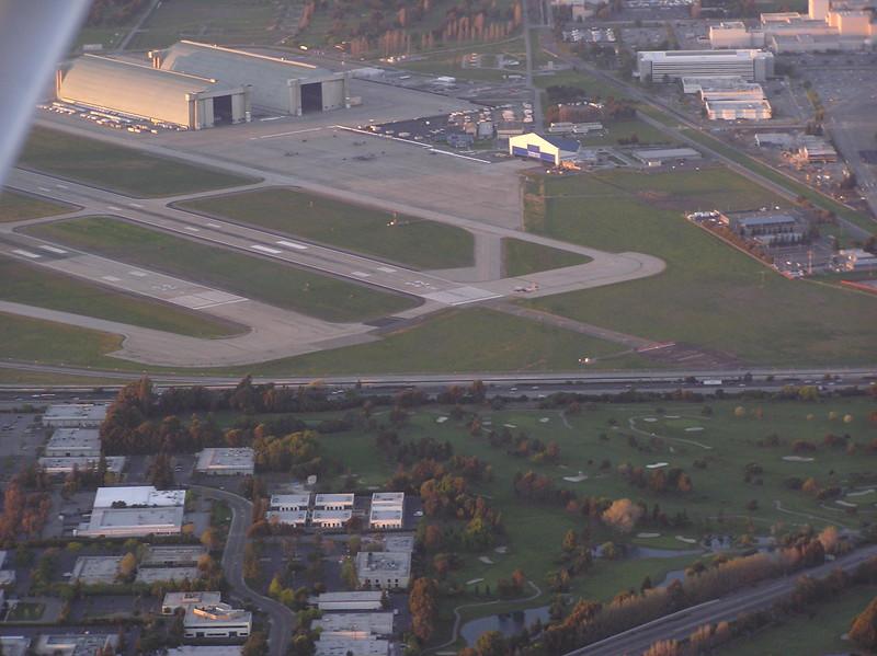 C-130 landing at Moffett Field