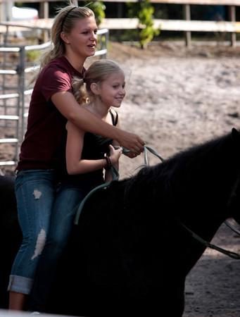 Sayge Horseback lessons