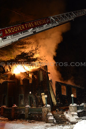 Andover, MA 2nd Alarm - IAO 279 N Main St at The Wood Estate - 2/10/14
