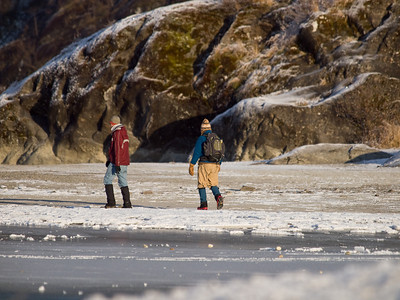 At the glacier with Elia and Junie