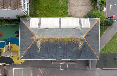 School building roof