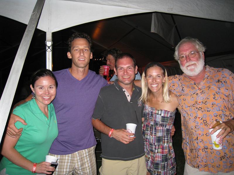 7/12/2009 - FBYC Leukemia Cup Regatta - party - Carolina Garrett, Chris Schmidt, Jon Deutsch, Melanie Polouze, Alan Heyward