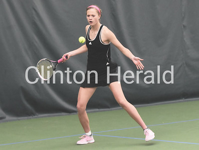 Muscatine at Clinton girls tennis 4.11.19