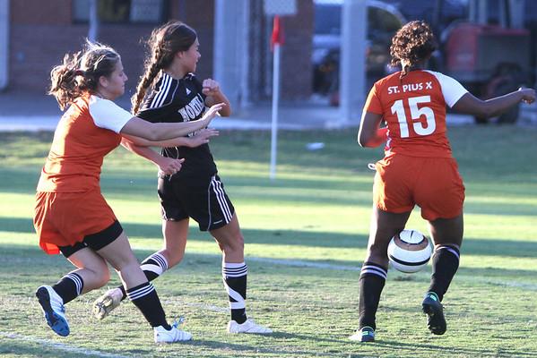2012-13 Girls HS Soccer vs St. Pius 11-6