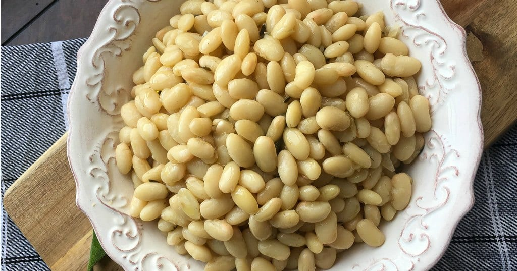 Italian White Beans with Garlic and Sage