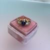 1.75ctw Cab Sapphire and Old European Cut Diamond 3-stone Ring 28