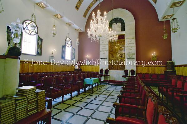 MOROCCO, Casablanca. Benarrosh Synagogue (8.2001)