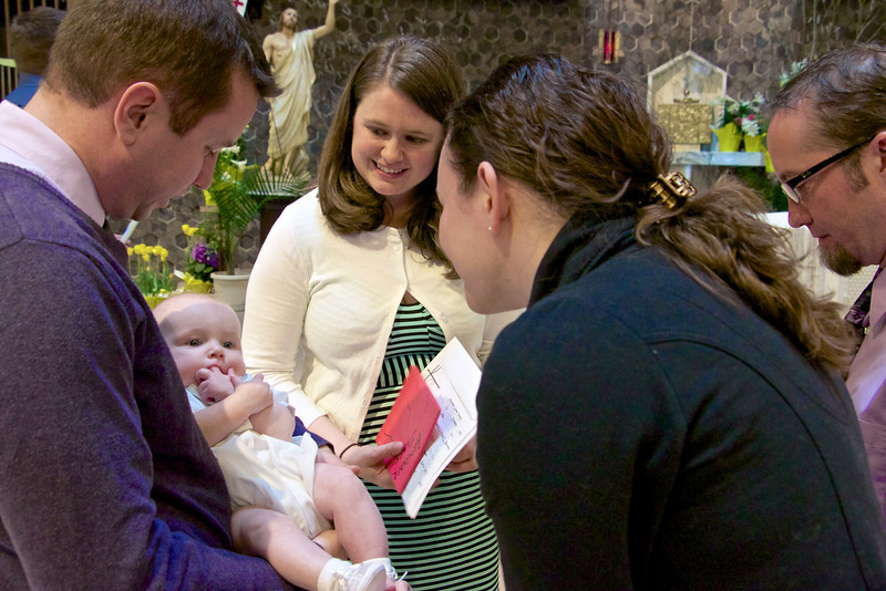 Alexander with parents & Godparents