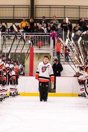 Hockey Roseville Senior Night