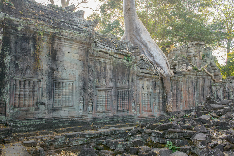 PREAH KHAN. The niches above each window appear to be blank. All images of Buddha were removed to make the temple a Hindu temple later in its history, and they may have been in these niches.