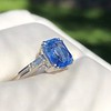 Vintage-Inspired and Contemporary 3.03ct Blue Sapphire Ring (GIA, No-Heat)) 17