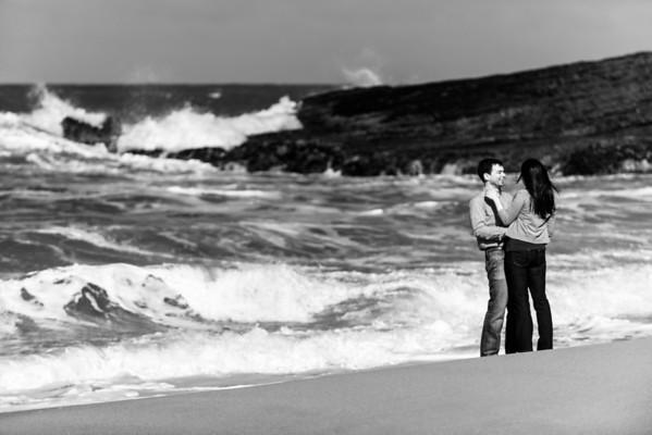 Jaime and Jake (Engagement Photography) @ Panther Beach, Santa Cruz, California
