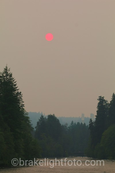 Smokey Sun over the Campbell River