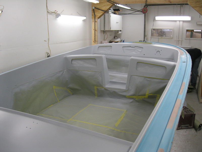 Forward looking view of primer applied.