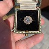 1.97ctw Antique Cluster Ring, GIA G SI2 32
