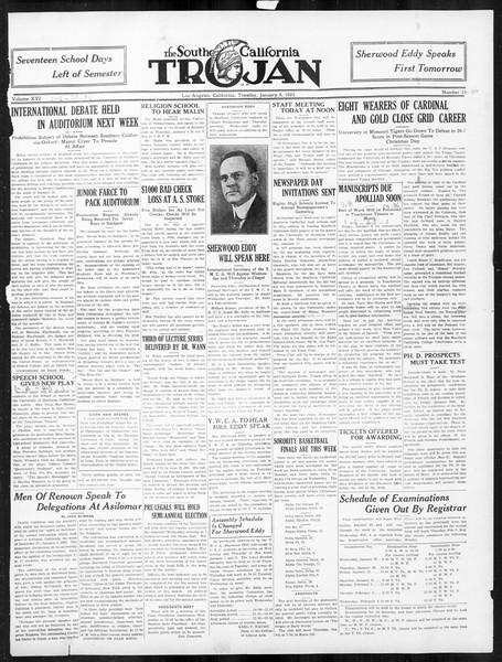 The Southern California Trojan, Vol. 16, No. 36, January 06, 1925