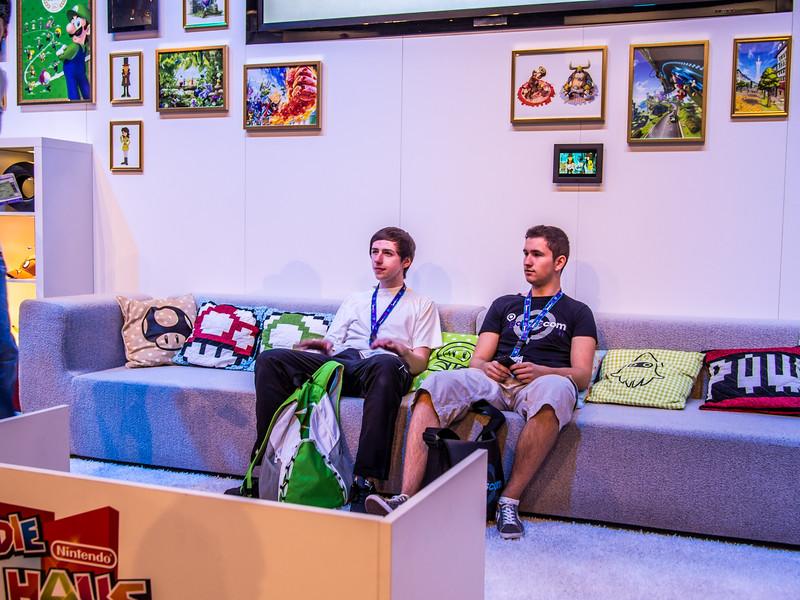 Nintendo booth at Gamescom 2013