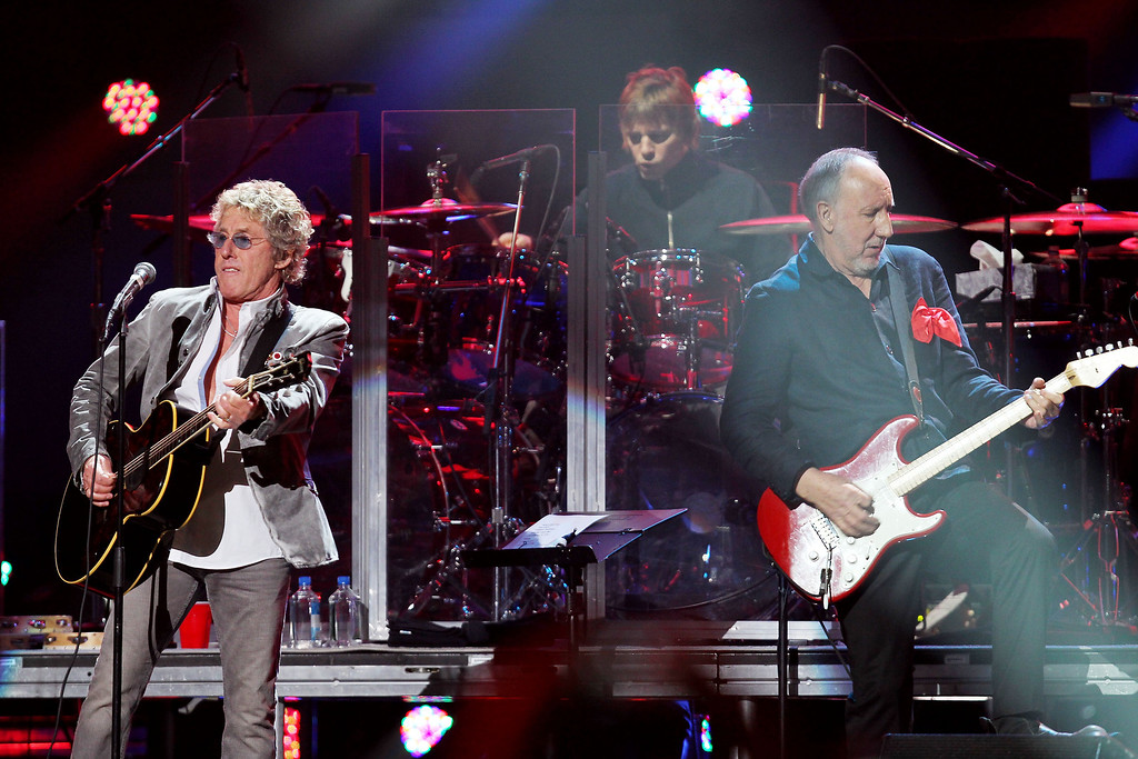 . This image released by Starpix shows Roger Daltrey, left, and Pete Townshend of The Who performing at the 12-12-12 The Concert for Sandy Relief at Madison Square Garden in New York on Wednesday, Dec. 12, 2012. Proceeds from the show will be distributed through the Robin Hood Foundation. (AP Photo/Starpix, Dave Allocca)