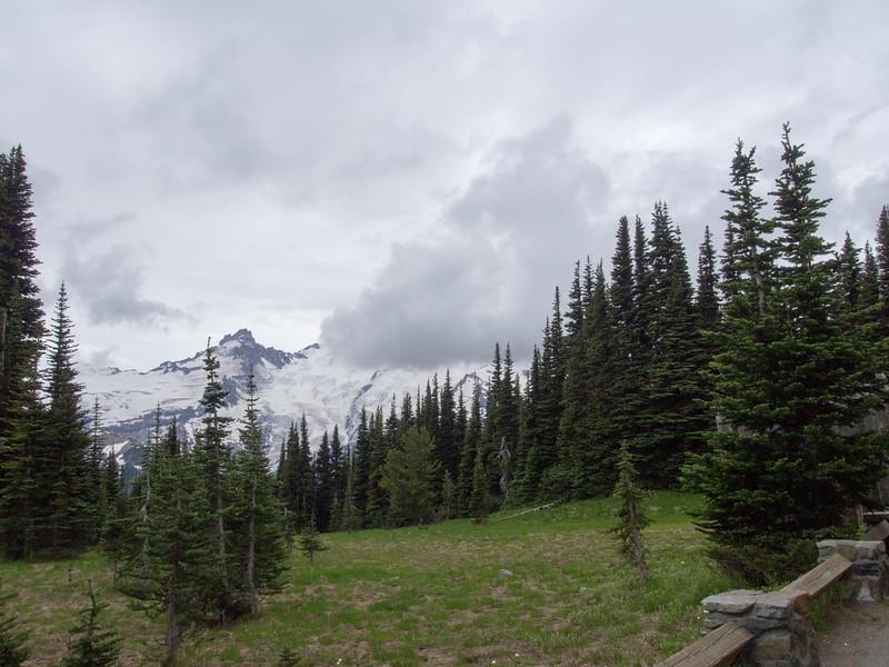 Mt Ranier is somwehere behind that cloud