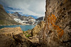 Scenes from an ascent of Mount Biddle, in the heart of Yoho National Park, high above Lake MacArthur.