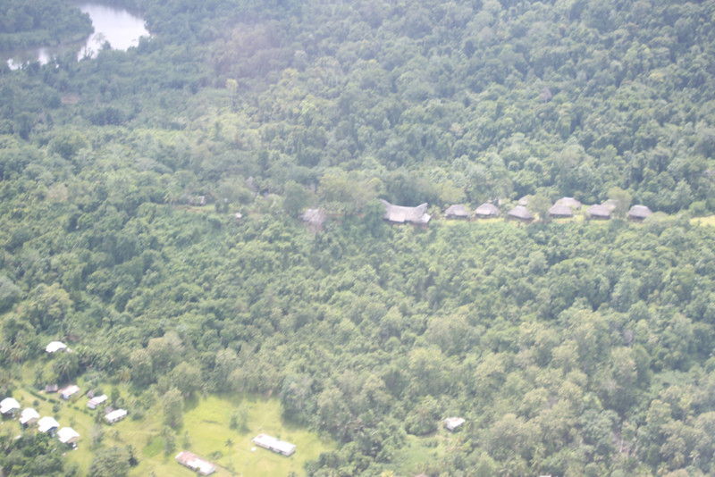 aerial view of Karawari Lodge