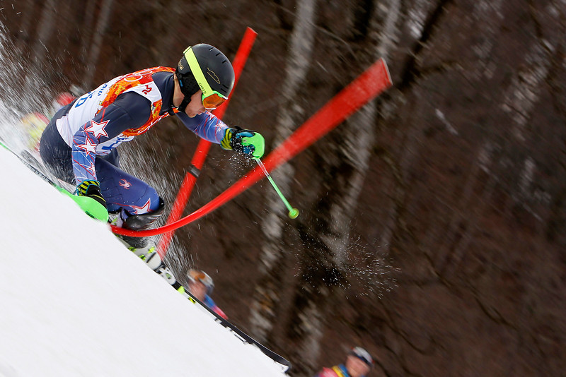 . Ted Ligety of the USA competes during the Alpine Skiing Men\'s Slalom at the Sochi 2014 Winter Olympic Games at Rosa Khutor Alpine Centre on February 22, 2014 in Sochi, Russia. (Photo by Alexis Boichard/Agence Zoom/Getty Images)